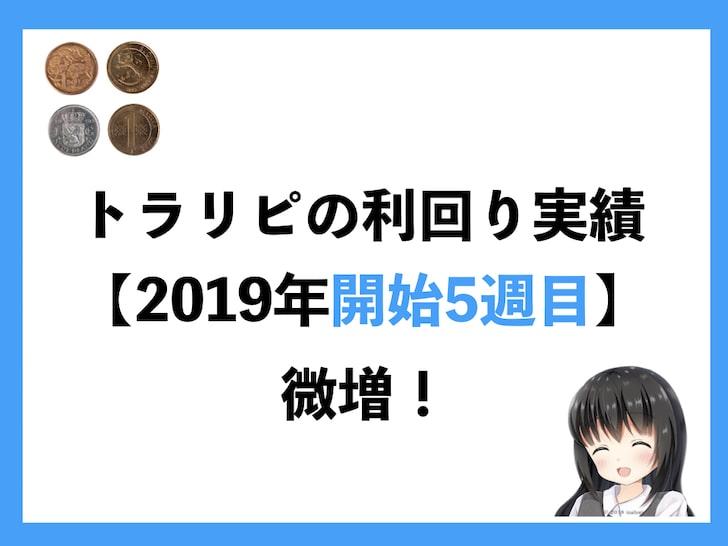 トラリピの利回り実績【2019年開始5週目】微増